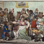 Spotprent van James Gillray over de onrust rond inoculatie tegen koepokken (1802). (afbeelding: Wellcome Collection)