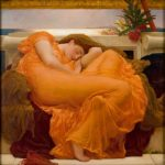 Frederic Leighton: Flaming June (1895). (Museo de Arte de Ponce, Puerto Rico | Wikimedia Commons)